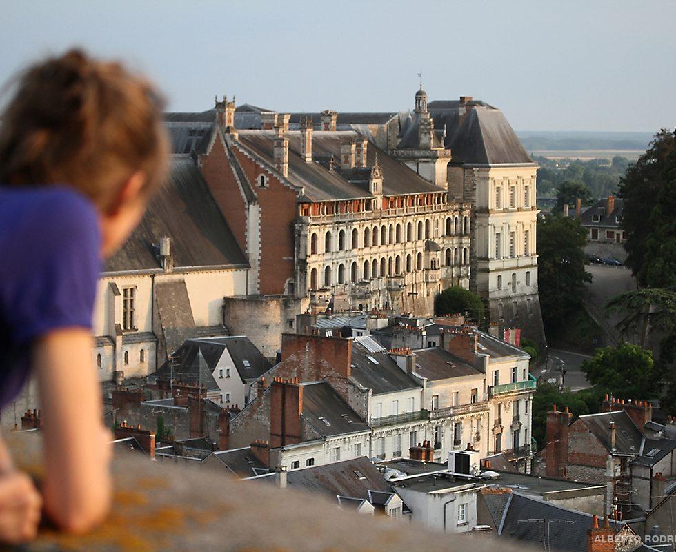 Vue du château royal de Blois depuis la Tour Beuavoir.